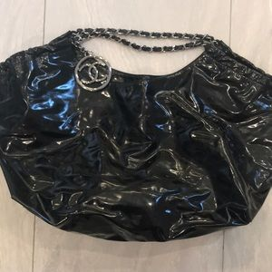 Authentic Channel extra large tote bag